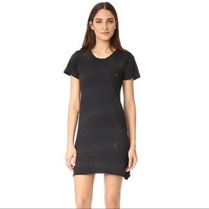 LNA Destroyed Tee Dress Black Size S NWT